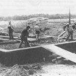 Fundamentarbeiten am jetzigen Sportlerheim