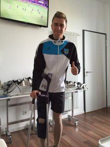 Felix in Erfurt nach seiner Operation