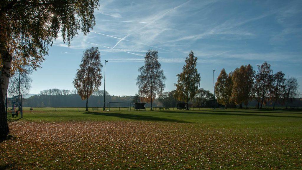 Herbststimmung am Sportplatz (Oktober 2015)